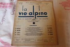 LA VIE ALPINE 26 revue du régionalisme dans les alpe française 1930