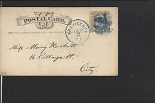 "PROVIDENCE, RHODE ISLAND, 1876 GPC. ""EVENING SCHOOL, HENRY, HOWLAND."""