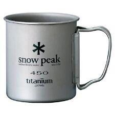New Snow Peak titanium mug Single mug 450 MG-043R Import Japan Camping F/S