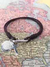 - Religious Bracelet - Free Engraving Unisex 925 Sterling Silver St Christopher