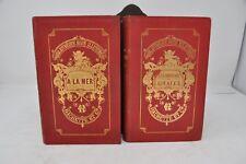 Les Chasseurs de Girafes la  Mer  Mayne  Reid 1875   lot de deux volumes