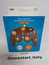 Wired Fight Pad Donkey Kong licenziato Nintendo Brown Wii/wii U UK 70805605359