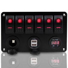 6 Gang LED Schaltpaneel Sicherung Schalter Schalttaf Wasserdicht für Auto Boot