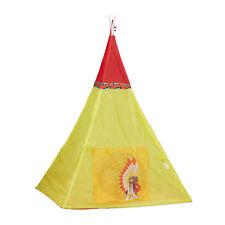 Tipi Spielzelt, Kinderzelt Tipi, Indianerzelt Kinder, Kinderspielzelt gelb, ab 3