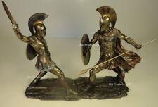 ACHILLES vs HECTOR Battle of Troy GREEK MYTHOLOGY Sculpture Statue Bronze Finish
