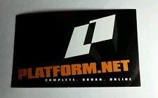 PLATFORM. NET COMPLETE URBAN ONLINE B&W 3x5 MUSIC STICKER