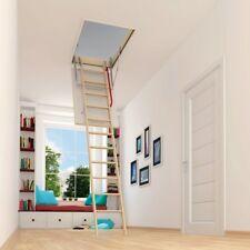 OPTISTEP WOOD TIMBER FOLDING LOFT LADDER & HATCH 70x120* (68x118) Attic Stairs