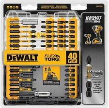 MAGNETIC SCREWDRIVER BIT SET Impact Ready Drill Driver Bits Tool Kit 40-Piece