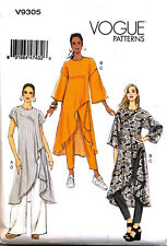 VOGUE SEWING PATTERN 9305 MISSES 4-14 FITTED SHAPED HEM TUNICS & PULL-ON PANTS