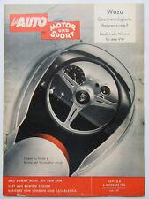 Auto Motor Sport 23/1958, Wozu Geschwindigkeits Begrenzung?
