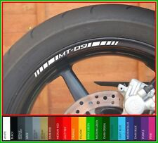 12 x YAMAHA MT09 Wheel Rim Stickers Decals - Many Colours  mt 09 mt-09 tracer sp