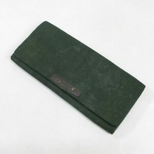 D1107: Japanese old cultural wallet with great metal fittings of Edo period.