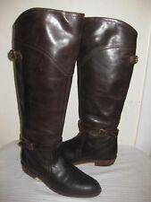 Frye Dorado  #77561 Dark Brown Leather Riding Boots Shoes Women's Size 7