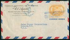 Mayfairstamps Honduras 1947 to Gowanda NY Airmail cover wwo1377