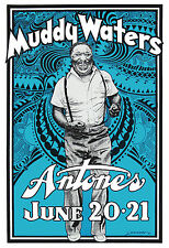 "Muddy Waters Concert Poster - 7""x10"" Photo"