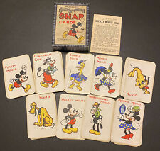 More details for rare 1930's walt disney silly symphony mickey mouse snap game cards chad valley