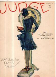 1928 Judge March 31 - Weight scale;H.L. Mencken; GOP afraid to touch Prohibition