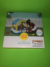 Used*Inflatable Baby Cabana Play Pool - Sun Squad Shaded Baby Pool Kid Toy Gift