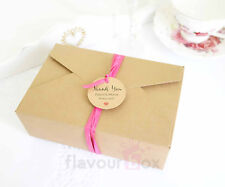 10x Kraft Brown Gift Box - Picnic Box Wedding Cake Favour Baby Shower Macaron