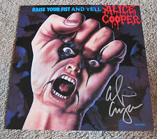 Alice Cooper - Signed Raise Your Fist and Yell poster. JSA Authentication.