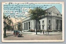 Sinai Temple CHICAGO Jewish Synagogue—Rare Antique Judaica—AMSTERDAM Posted 1920