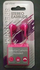 Vibe Spectrum Stereo Earbuds Pink For Smart Devices Laptops Gamimg Systems