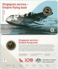 2020 Qantas 100 years Centenary $1 Coin - Empire flying boat - from Mint set