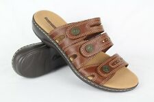 4c656b016 New Clarks Women s Leisa Lakia Slide Sandals Size 8m Tan Brown