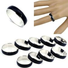 50/80pcs Wholesale Lot Jewelery Bulk Mixed Change Color Silver Plated Mood Rings