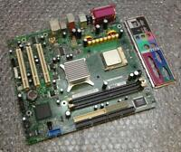 Dell CF458 0CF458 Dimension 1100 Socket 478 Motherboard with CPU and Back Plate