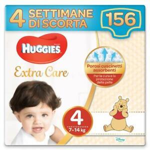 Huggies Pannolini Extra Care Taglia 4 Maxi Confezione da 156 Pannolini (4 Settim