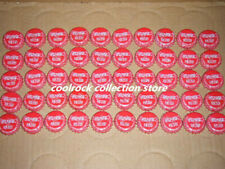 lot of 50 coca cola bottle caps from China used (red colour)