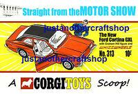 Corgi 313 Graham Hill Ford Cortina GXL 1970 A4 Size Poster Advert Leaflet Sign