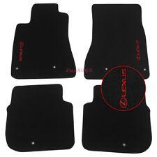 Fits 98-05 Lexus GS300 GS400 GS430 Black Floor Mats Carpet Red Lexus Embroidery