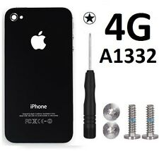 Replacement Rear Glass Back Cover Battery Door For iPhone 4 A1332 Black Screws/T
