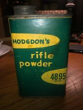 Vintage Advertising Tin, Hodgdon's Rifle Powder 4895, Nra Reloading Dupont 3031