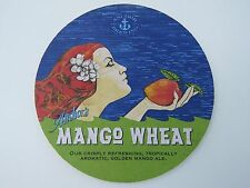 Beer Coaster <> ANCHOR Brewing Co Mango Wheat ~ San Francisco, CALIFORNIA; Woman