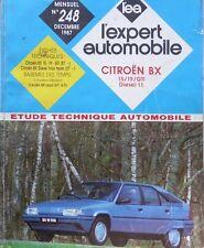 Revue technique CITROEN BX 15 19 GTI DIESEL depuis 1987 RTA EXPERT 248 1987