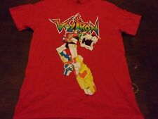 Voltron used mens t shirt red cartoon Japan 80's tv show toys