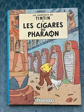 Aventures de Tintin Les Cigares du Pharaon French Hardcover Comic -free shipping