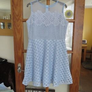 Quiz, Pale blue Lace dress size 12 Immaculate