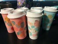 Starbucks 2020 NEW Reusable Easter Hot Cups 16 oz Choose your color / pattern !