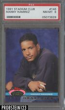 1991 Topps Stadium Club #146 Manny Ramirez Cleveland Indians RC Rookie PSA 8