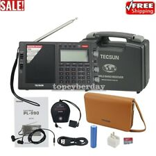 For Tecsun Radio PL-990 Radio Receiver FM LW MV SW SSB Radio DSP Music Speaker
