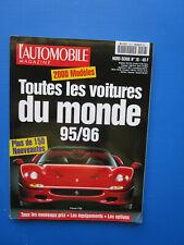 """L'Automobile """" TOUTES LES VOITURES DU MONDE """"  1995-1996 Hors-Série  N° 18"""