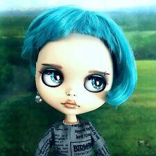 OOAK Blythe Custom Doll TBL Blue Hair EUC Pre-owned