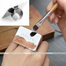 Nail Art Makeup Cosmetic Stainless Steel Paint Mixing Palette Good Quality