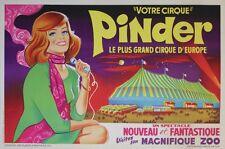 """""""PINDER (années 50)"""" Affiche originale entoilée Litho GRINSSON 64x44cm"""