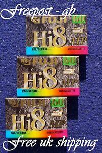 3 x EXCELLENT QUALITY FUJI P5-60 Hi8 & DIGITAL8 VIDEO CAMCORDER TAPES/ CASSETTES