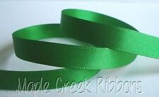 "5yd of Emerald Green 3/8"" Double Face Satin Ribbon 3/8"" x 5 yards neatly wound"